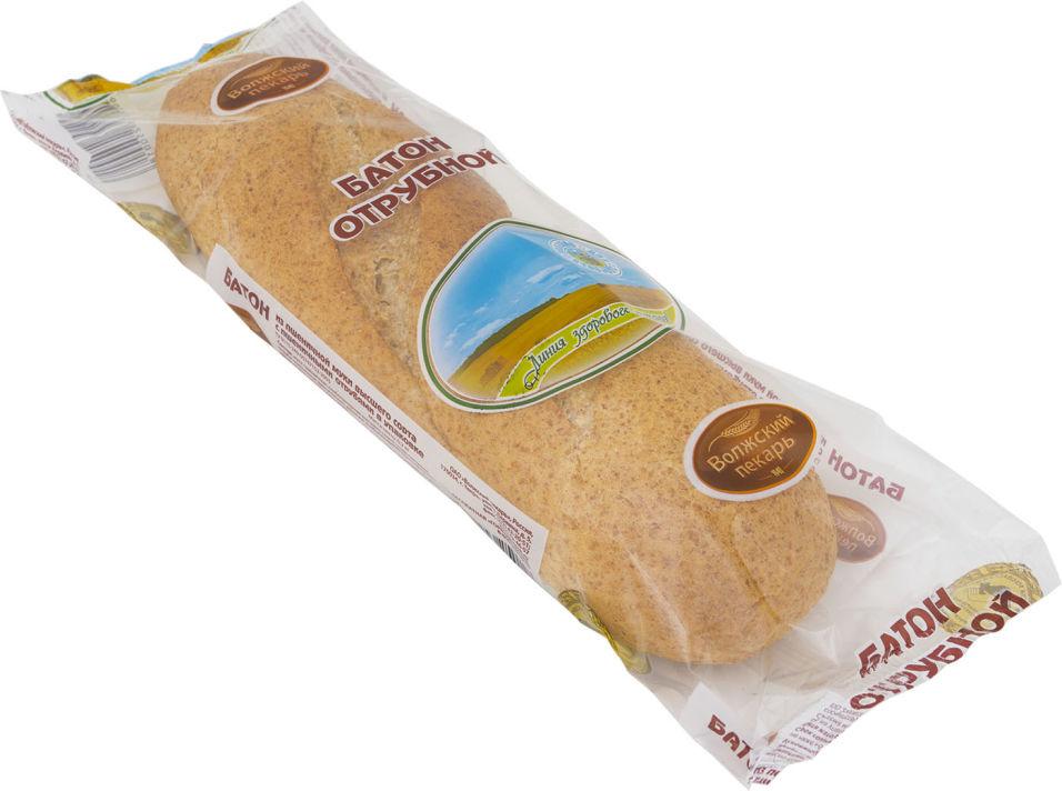 Хлеб Волжский пекарь Батон с отрубями 200г