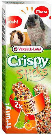 Лакомство для грызунов Versele-Laga Crispy палочки с фруктами 2шт*55г
