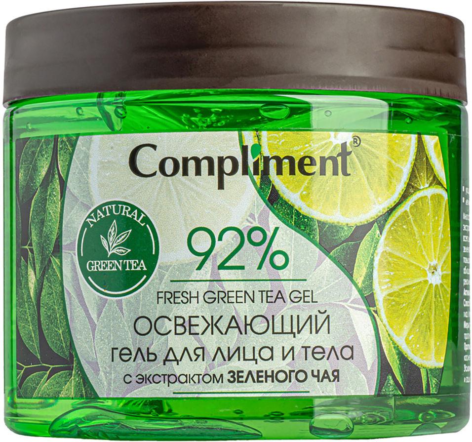 Гель для лица и тела Compliment Освежающий с экстрактом зеленого чая 400мл
