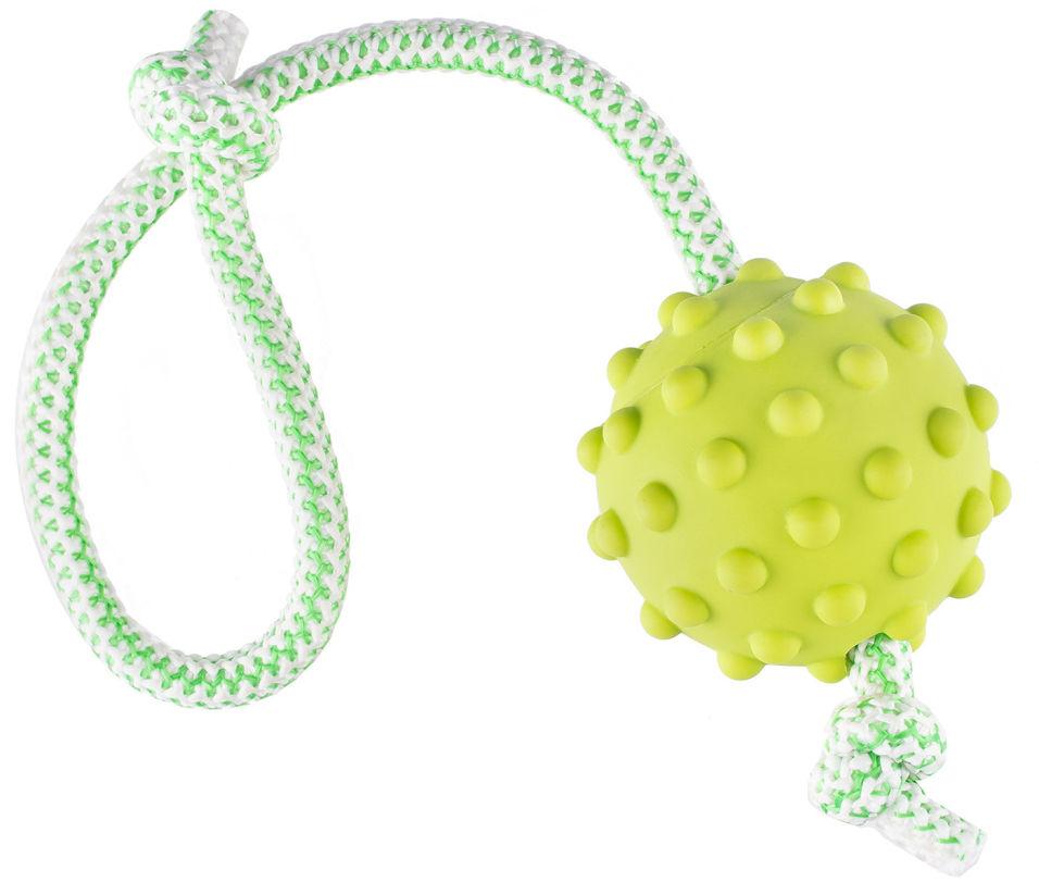 Игрушка для животных Fancy Pets Мяч на веревке мяч 7.3см веревка 30см