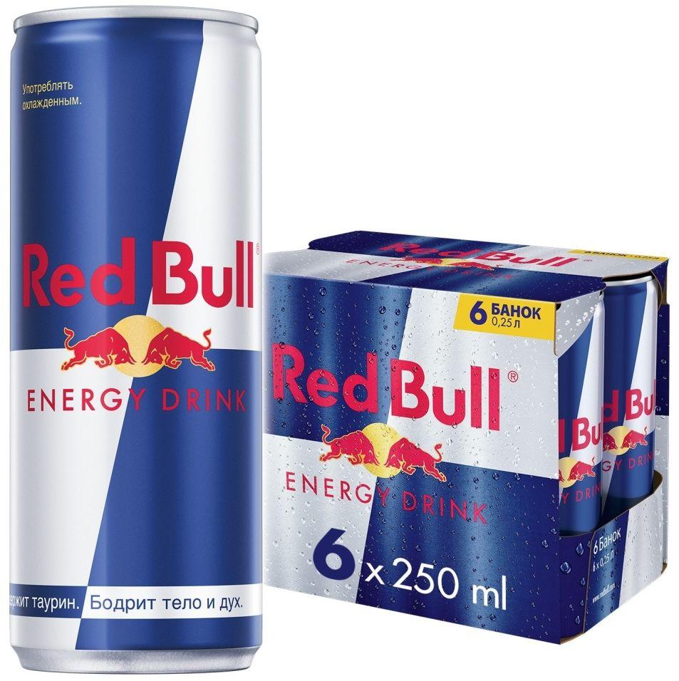 Напиток Red Bull энергетический 6шт*250мл