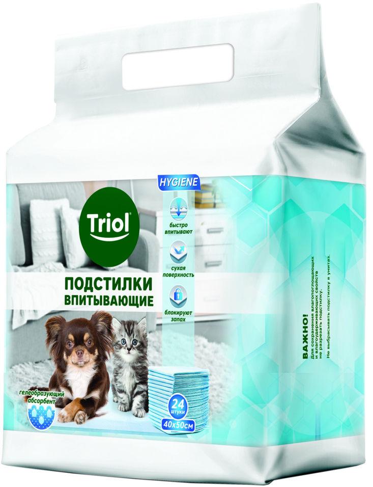 Подстилки для животных Triol впитывающие для туалета 40*50см 24шт