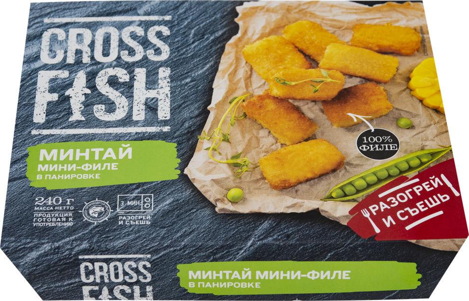 Минтай Cross Fish мини-филе в панировке 240г
