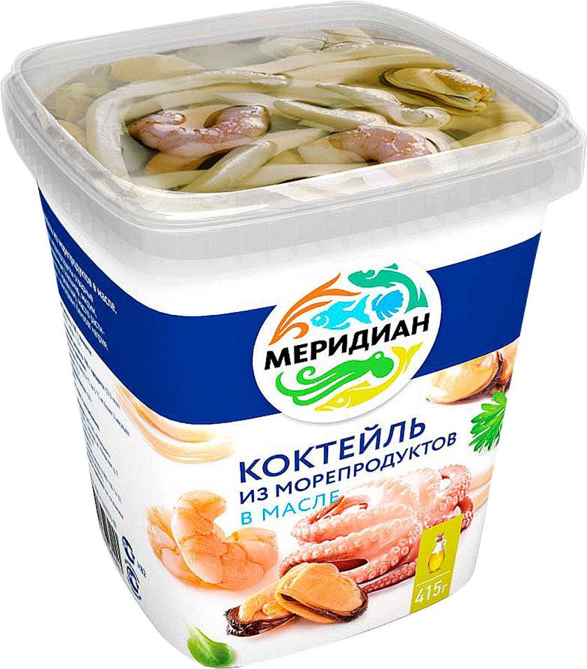 Коктейль из морепродуктов Меридиан в масле 415г