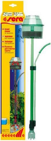 Пылесос для грунта Sera Gravel Cleaner устраняет тину и грязь со дна в аквариумах высотой до 60см