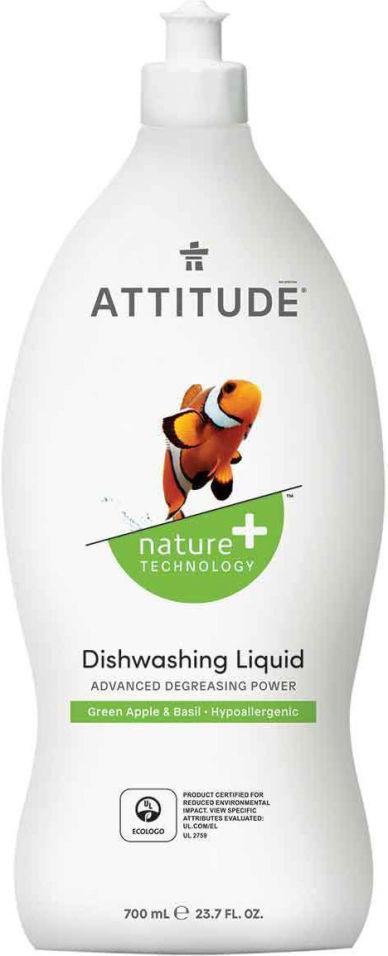 Средство для мытья посуды Attitude Яблоко-базилик 700мл