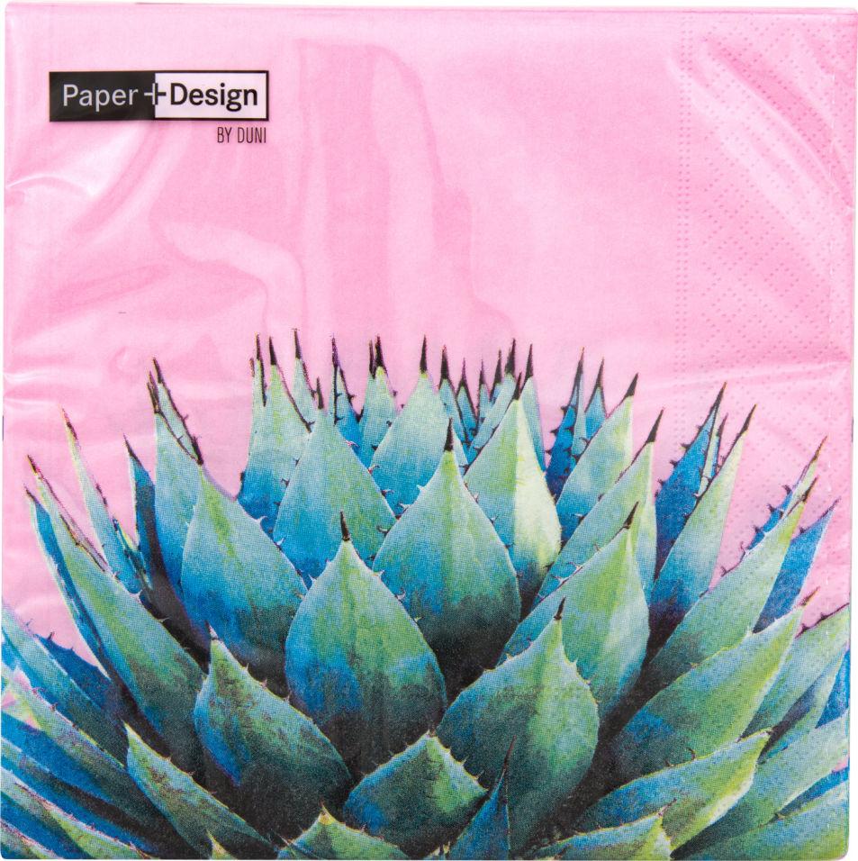 Салфетки Duni Cactus трехслойные 33*33см 20шт