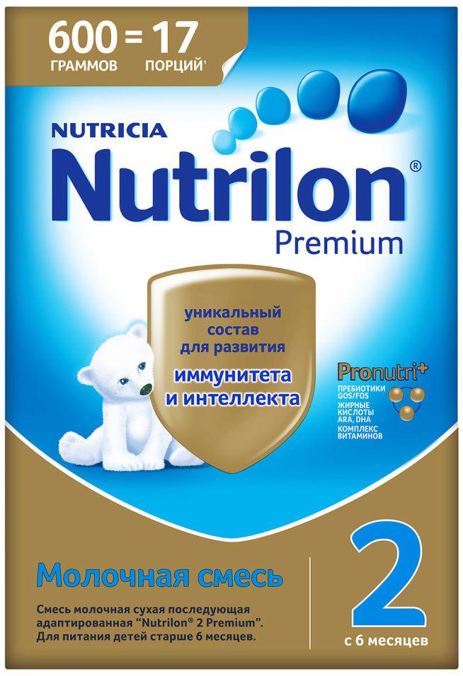 Смесь Nutrilon 2 Premium молочная 600г (упаковка 2 шт.)