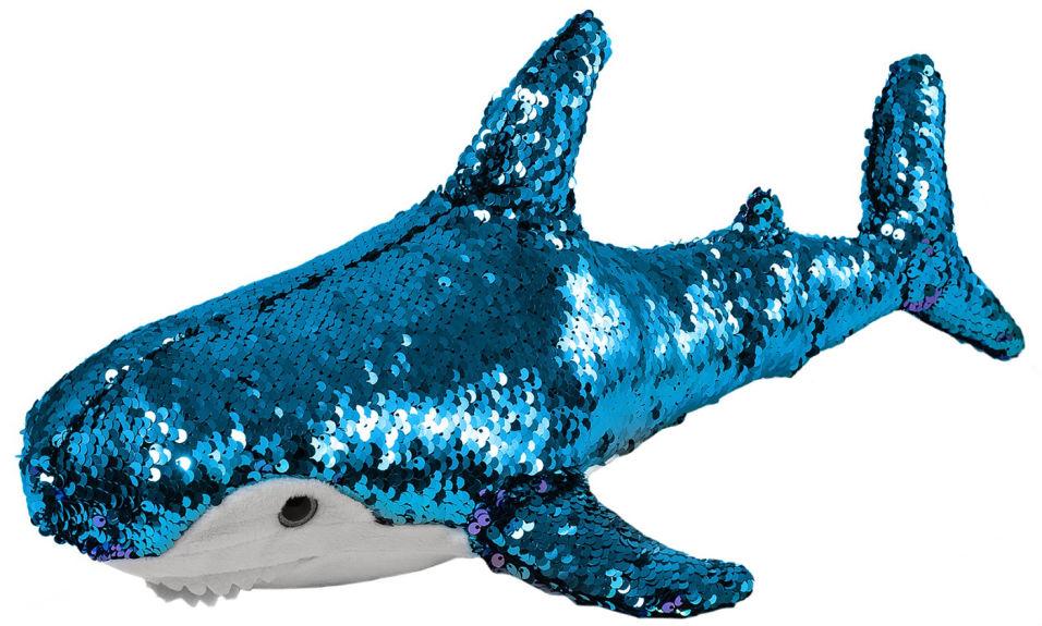 Игрушка мягкая Fancy Акула в пайетках 47см