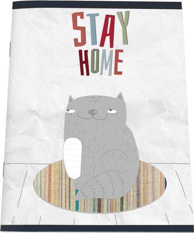 Тетрадь общая №1 School Paper Cat Stay A5 клетка 48л