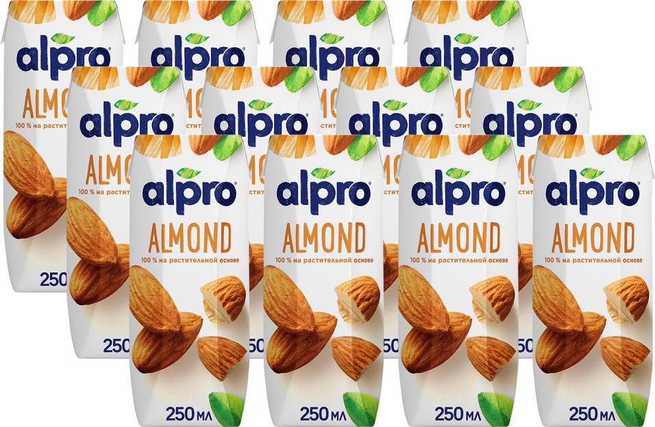 Напиток миндальный Alpro без глютена 1.1% 250мл (упаковка 12 шт.)