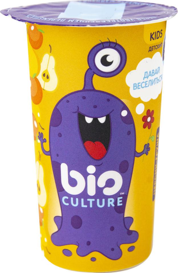 Биопродукт кисломолочный Bio Culture  с персиком и грушей 1.5% 100г