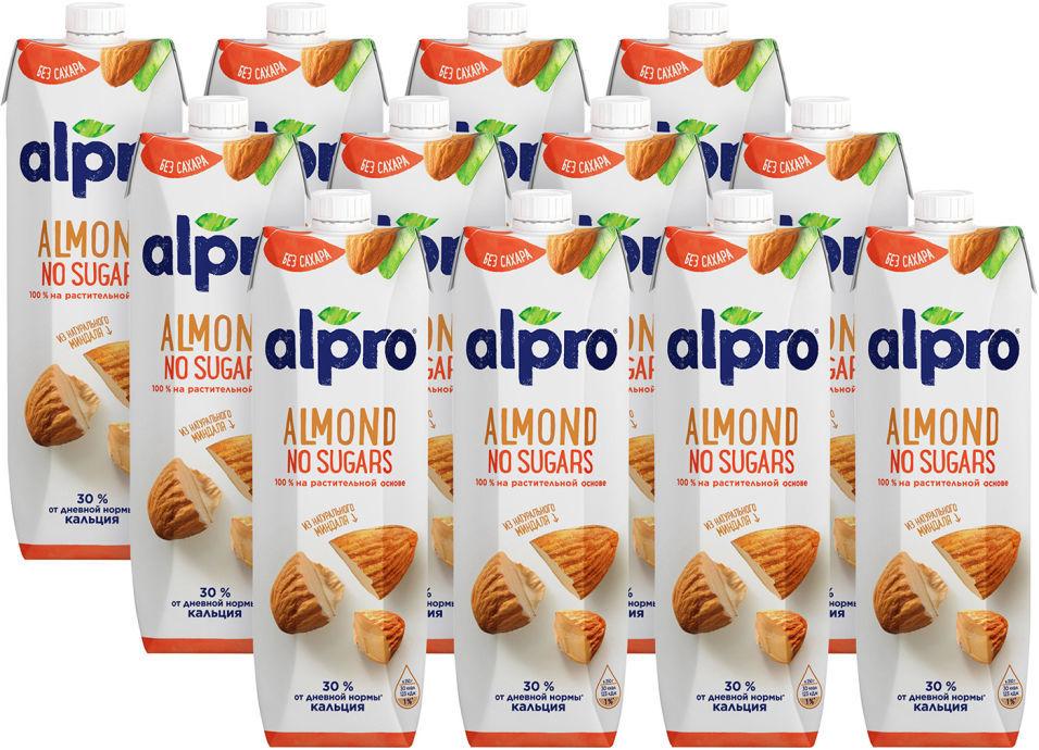 Напиток миндальный Alpro No Sugars 1л (упаковка 12 шт.)