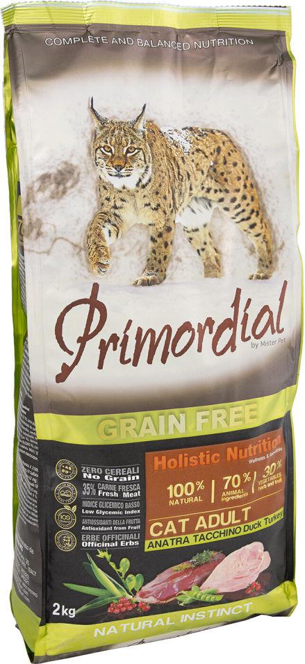 Сухой корм для кошек Primordial Утка и Индейка 2кг