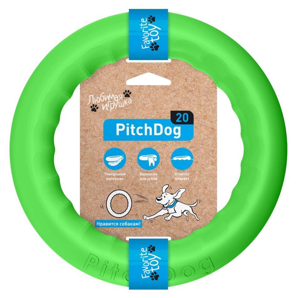 Игрушка для собак PitchDog Кольцо зеленое