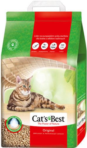 Наполнитель для кошачьего туалета Cats Best Original древесный 10л