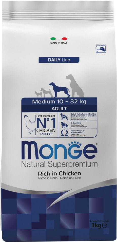 Корм для собак Monge Dog Medium для средних пород 3кг