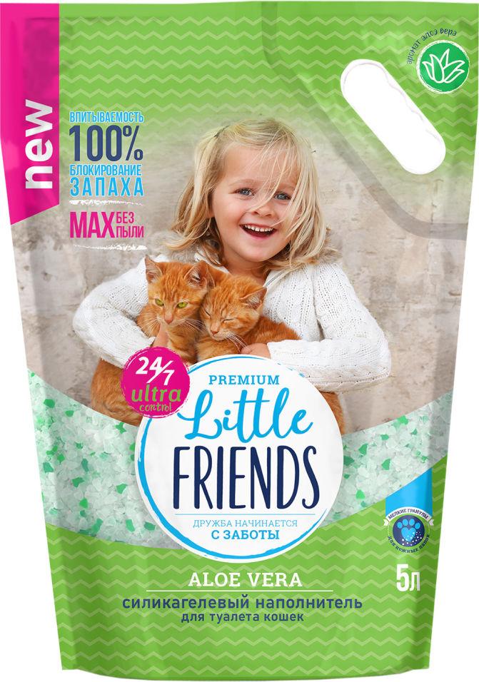 Наполнитель для кошачьего туалета Little Friends Силикагелевый Aloe vera 5л