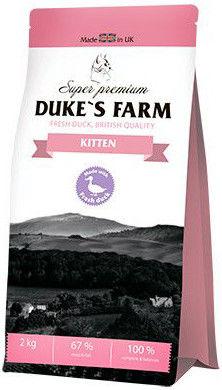Сухой корм для котят Dukes Farm Утка 2кг