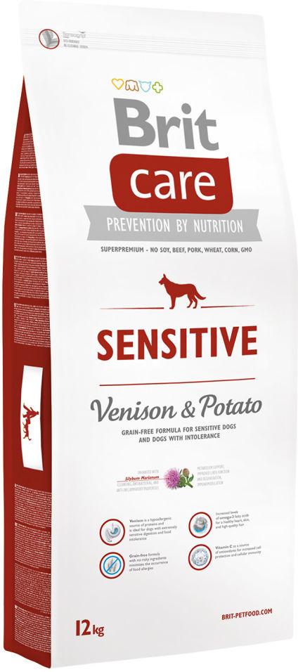 Сухой корм для собак Brit Care Оленина для собак с чувствительным пищеварением 12кг