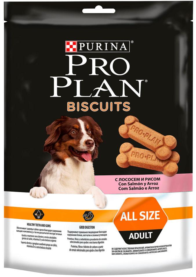 Лакомство для собак Pro Plan Biscuits Лосось и рис 175г