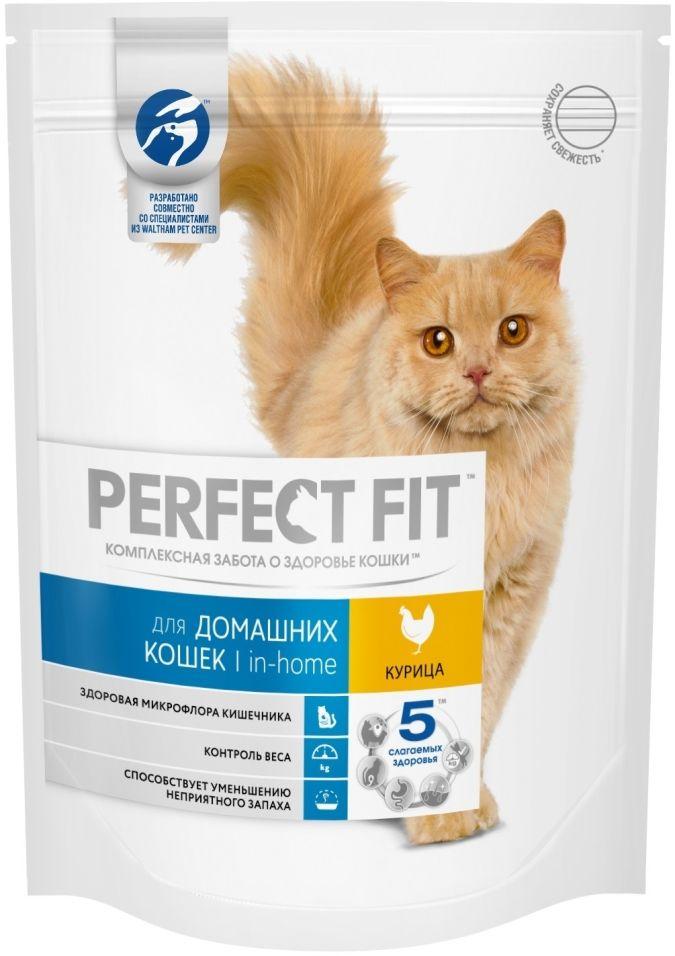 Сухой корм для кошек Perfect Fit In-Home с курицей 190г