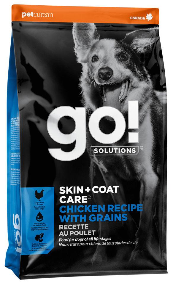 Сухой корм для щенков и собак Go! Skin+Coat Care с курицей фруктами и овощами 11.34кг