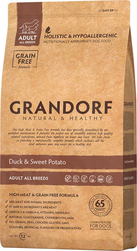 Отзывы о Сухом корме для собак Grandorf Adult all Утка с бататом 12кг