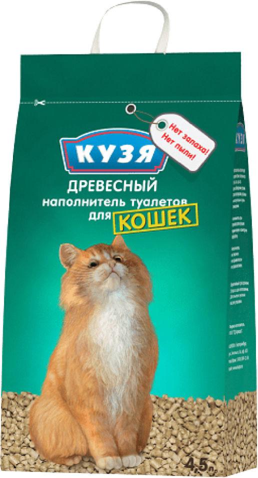 Наполнитель для кошачьего туалета Кузя древесный 4.5л