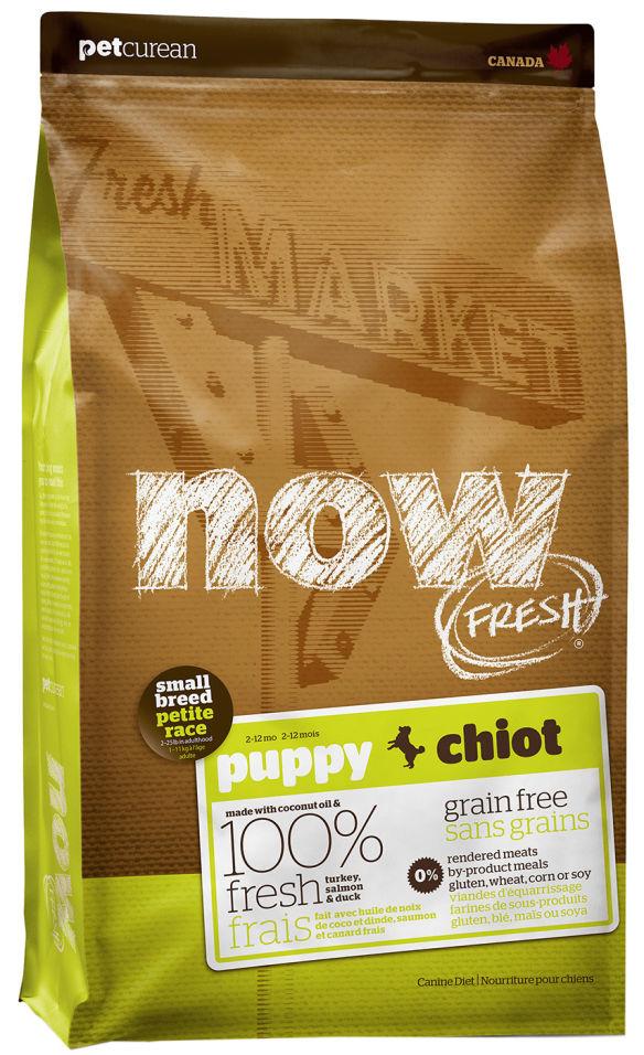 Отзывы о Сухом корме для щенков Now Fresh для мелких пород беззерновой с индейкой уткой и овощами 2.72кг