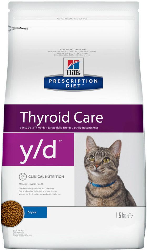 Сухой корм для кошек Hills Prescription Diet при проблемах щитовидной железы 1.5кг