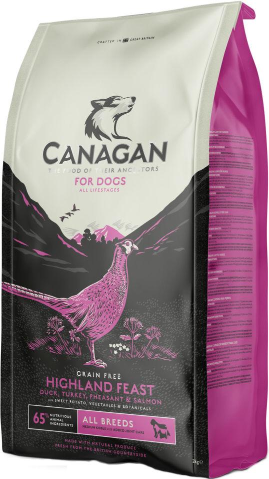 Сухой корм для собак Canagan Highland Feast для всех пород Утка Фазан 12кг