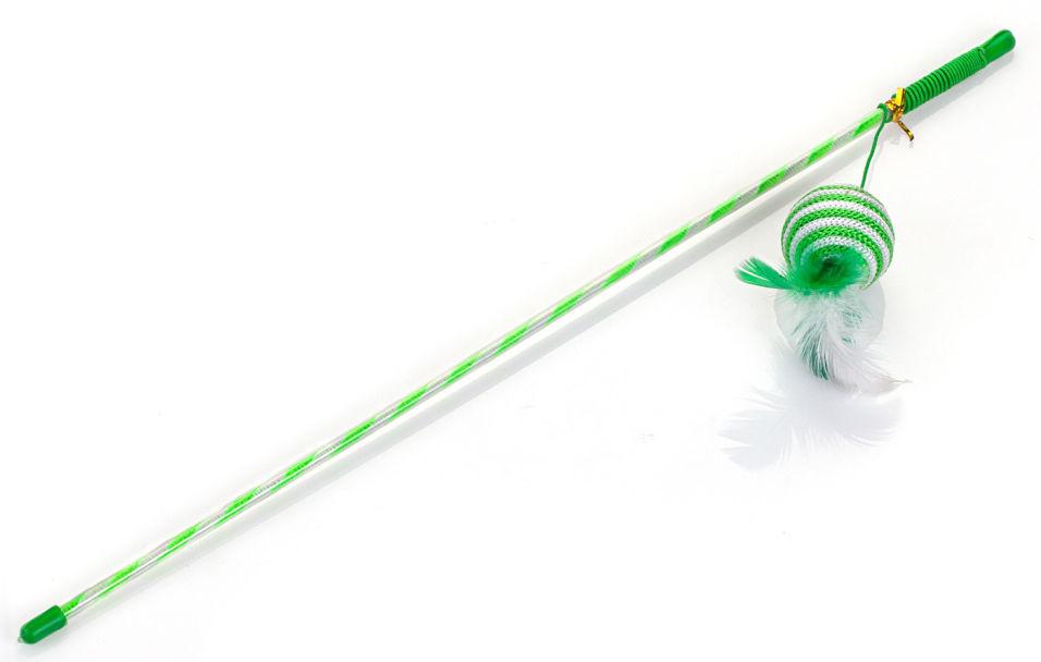 Игрушка для кошек Lilli Pet Удочка Ball With Feather 46см