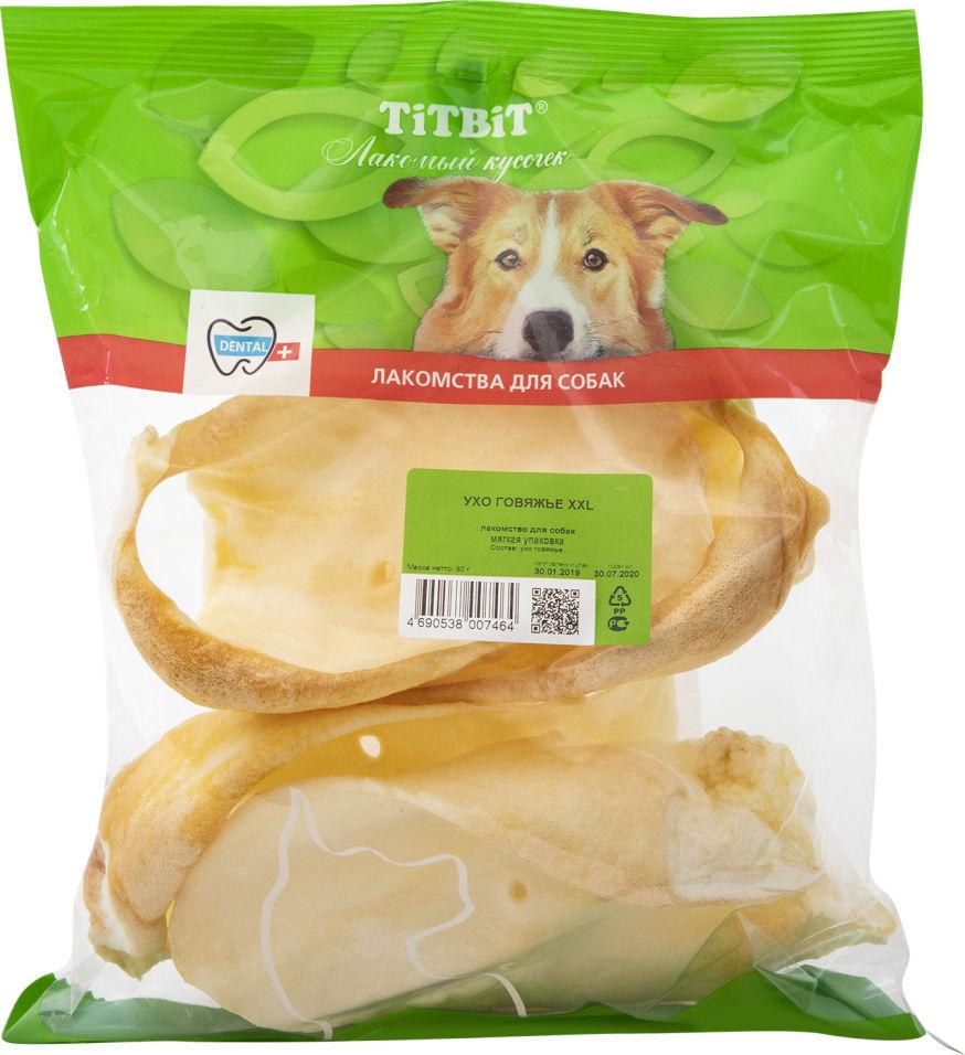 Отзывы о Лакомстве для собак TiTBiT Ухо говяжье XXL 80г