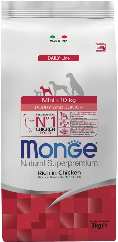 Корм для щенков Monge Dog Mini для мелких пород 3кг