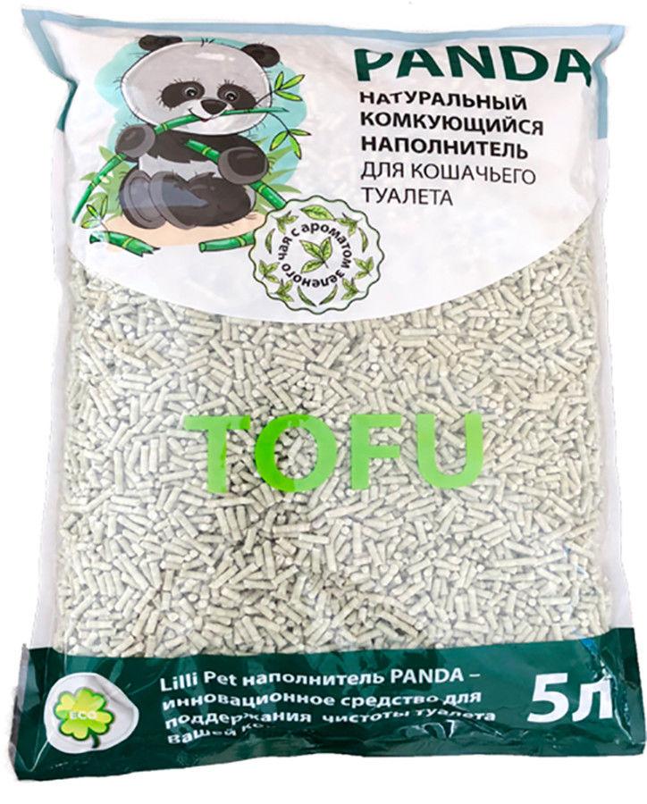 Наполнитель для кошачьего туалета Lilli Pet Panda с ароматом зеленого чая 5л