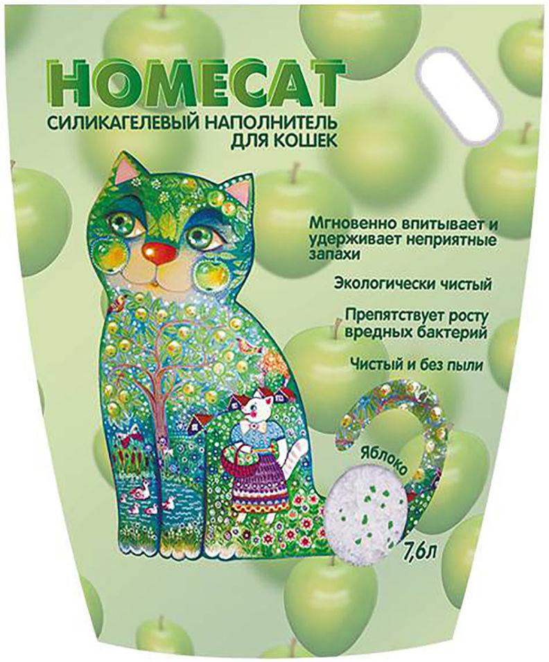 Наполнитель для кошачьего туалета Homecat Яблоко 7.6л