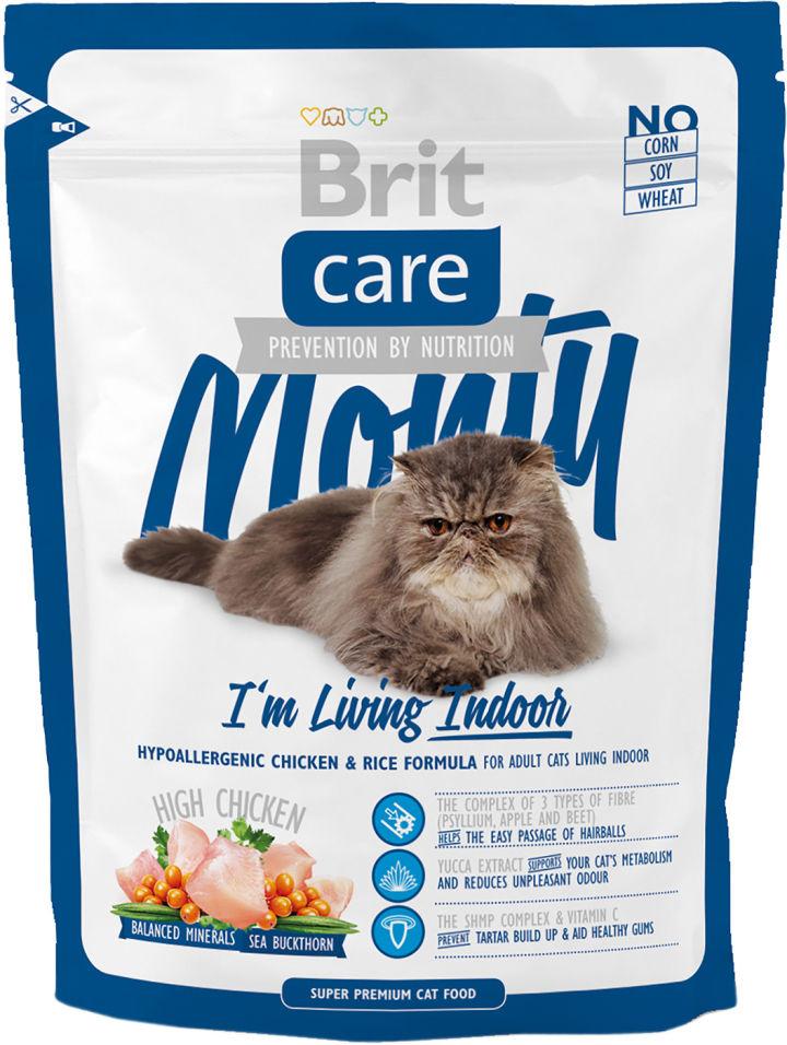 Сухой корм для кошек Brit care для домашних с курицей 400г