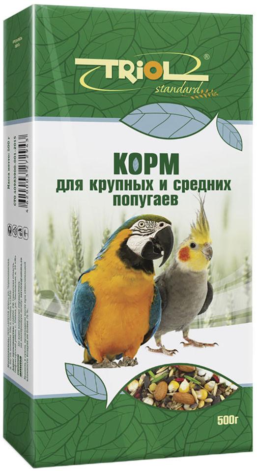 Корм для птиц Triol для крупных и средних попугаев 500г