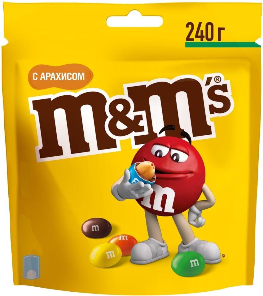 Отзывы о Драже M&Ms с арахисом и молочным шоколадом 240г