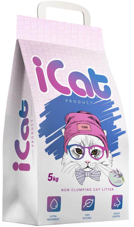 Отзывы о Наполнителе iCat впитывающем с ароматом лаванды 5кг