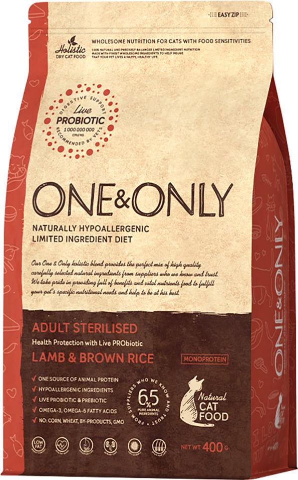 Отзывы о Сухом корме для кошек One&Only Adult sterilised ягненок с рисом 400г