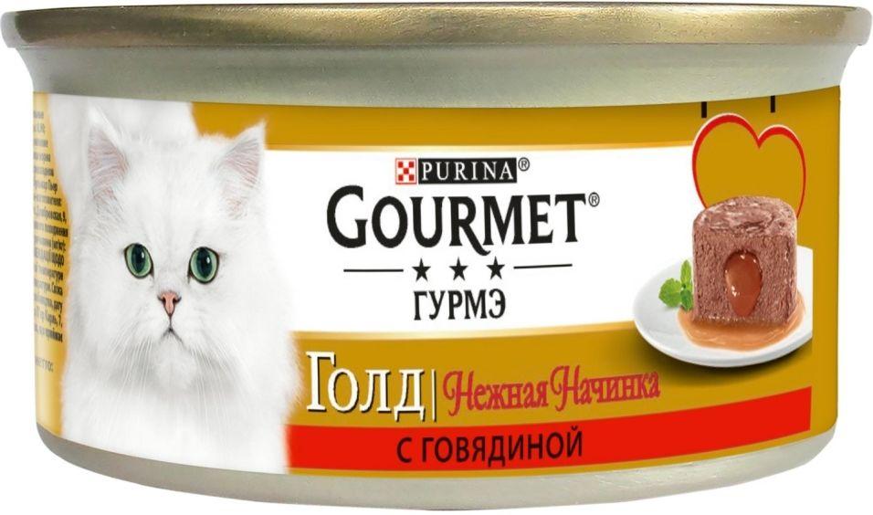 Корм для кошек Gourmet Gold Нежная начинка с говядиной 85г