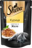 Корм для кошек Sheba Ломтики с курицей в желе 85г