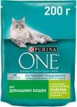 Сухой корм для кошек Purina One для домашних кошек с индейкой и цельными злаками 200г