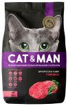 Сухой корм для кошек Cat&Man для взрослых кошек с говядиной 350г