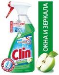 Средство для мытья стекол и зеркал Clin 2в1 Блеск и защита Яблоко 500мл