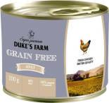 Корм для собак Dukes Farm Grain free Курица клюква шпинат 200г
