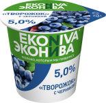 Творожок ЭкоНива с черникой 5% 125г