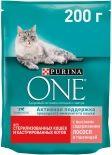 Сухой корм для кошек Purina One для стерилизованных кошек с лососем и пшеницей 200г
